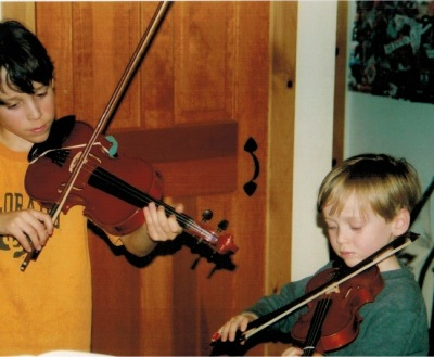 Our boys playing together, many moons ago.