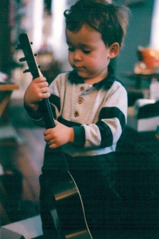 Lloyd with his first set of strings
